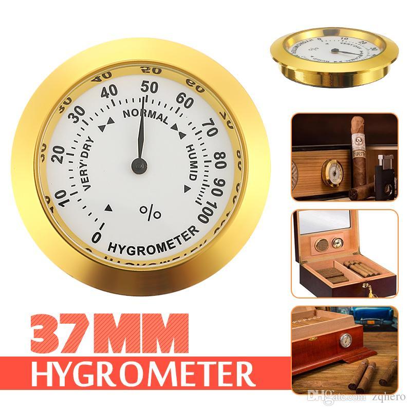 Mozaik higrometre 37mm nem metre tütün nemlendiriciler sigara duyarlı nem için higrometre pointer durumda kullanın