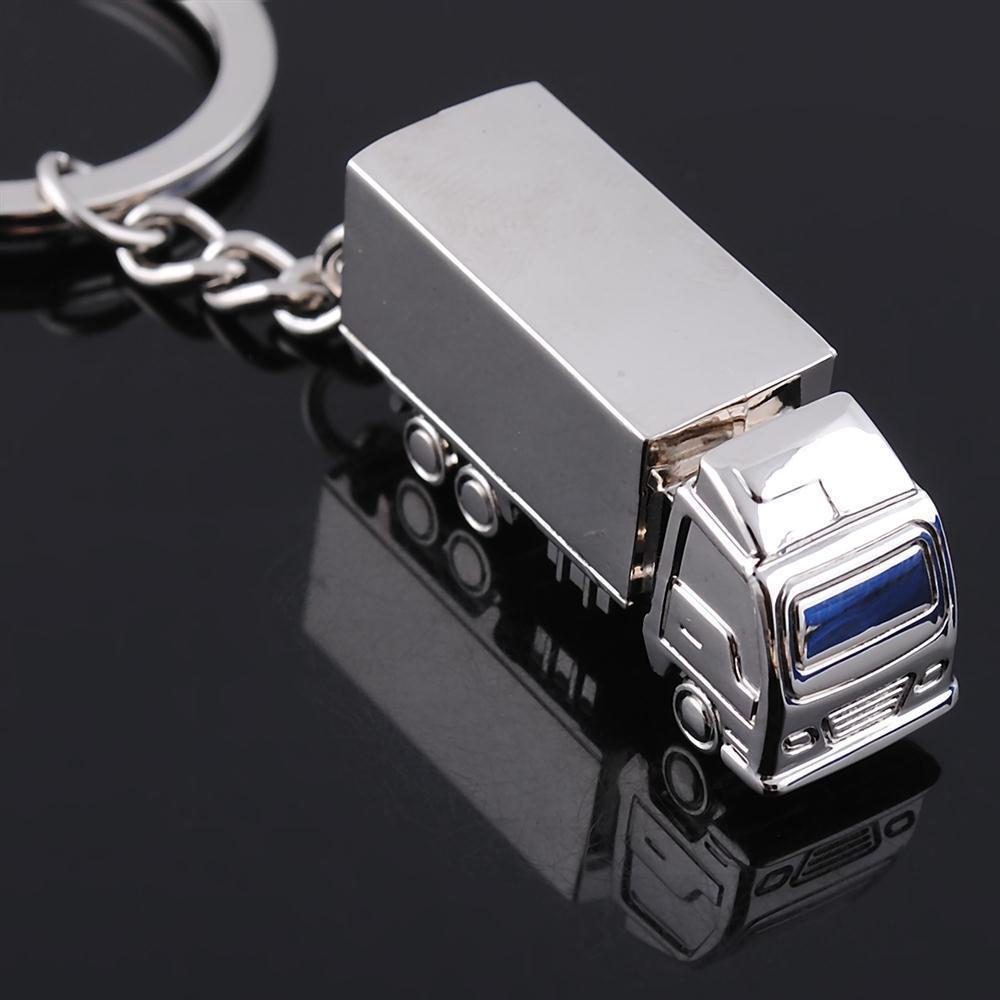 15pcs camion de voiture porte-clés en métal porte-clés personnalisé camion solide