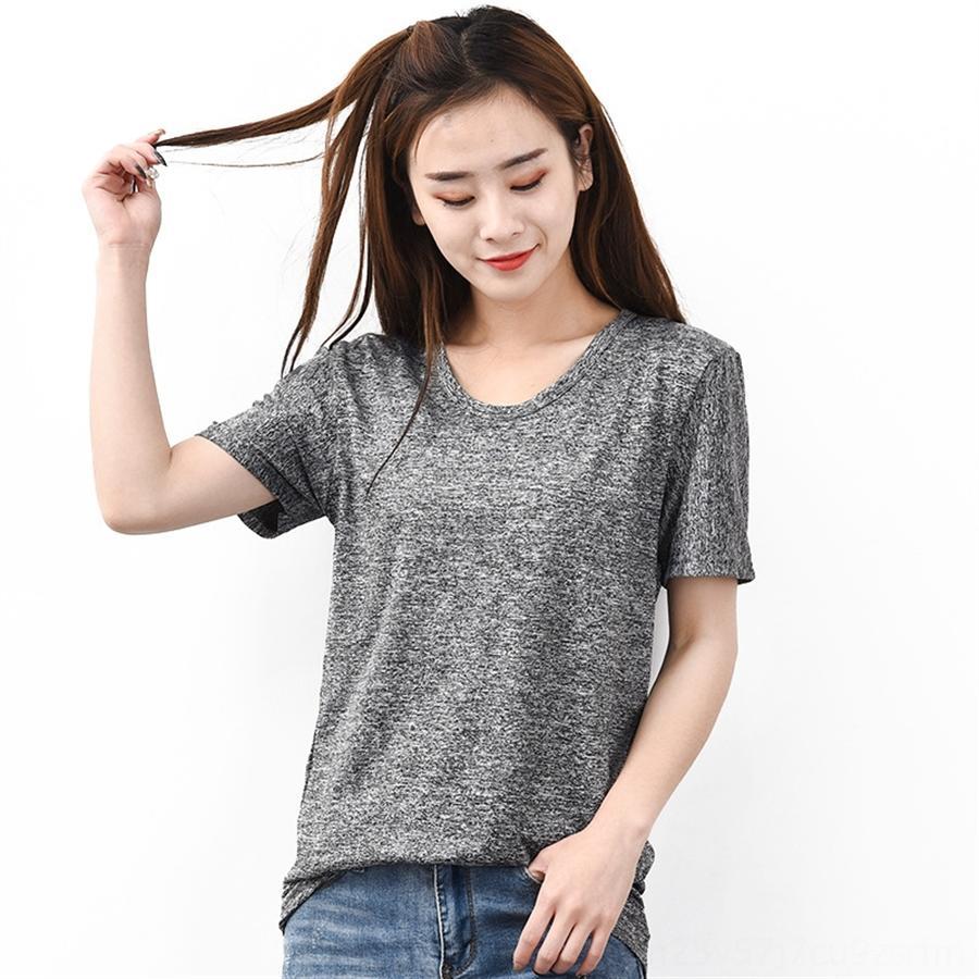 à manches courtes séchage rapide hygroscopiques de l'été des femmes, plus gras, plus la taille top T-shirt à manches courtes grand sport de loisirs T-shirt