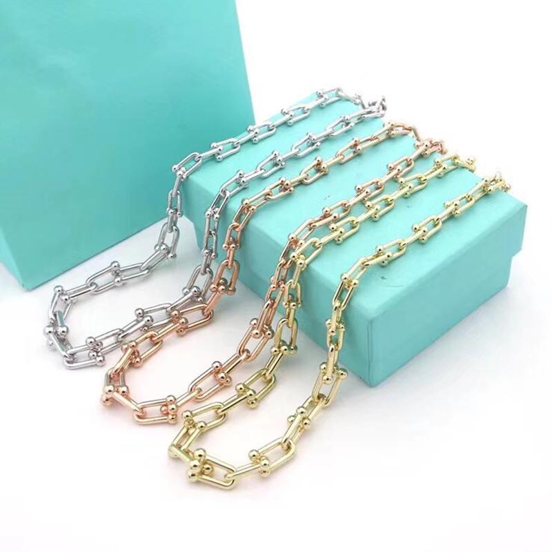 Europeus e americanos de luxo temperamento colar de prata da cor do ouro personalidade criativa selvagem Holiday Gift camisola cadeia clavícula cadeia