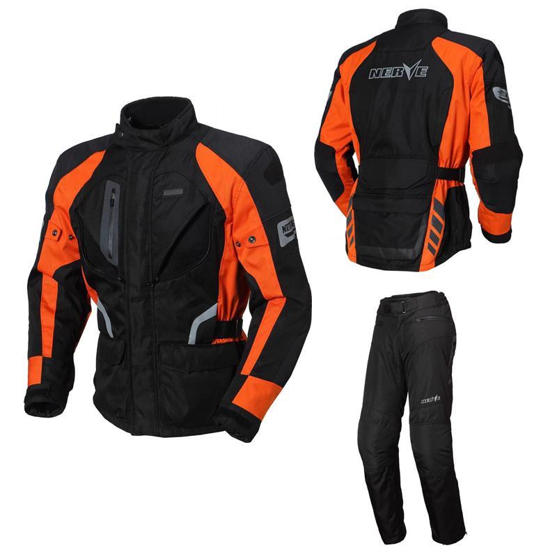 marca nervo motocicleta jaqueta de alta qualidade Alemanha homens ao ar livre calças casaco de montaria motorbiket terno motorcross sets protector CE
