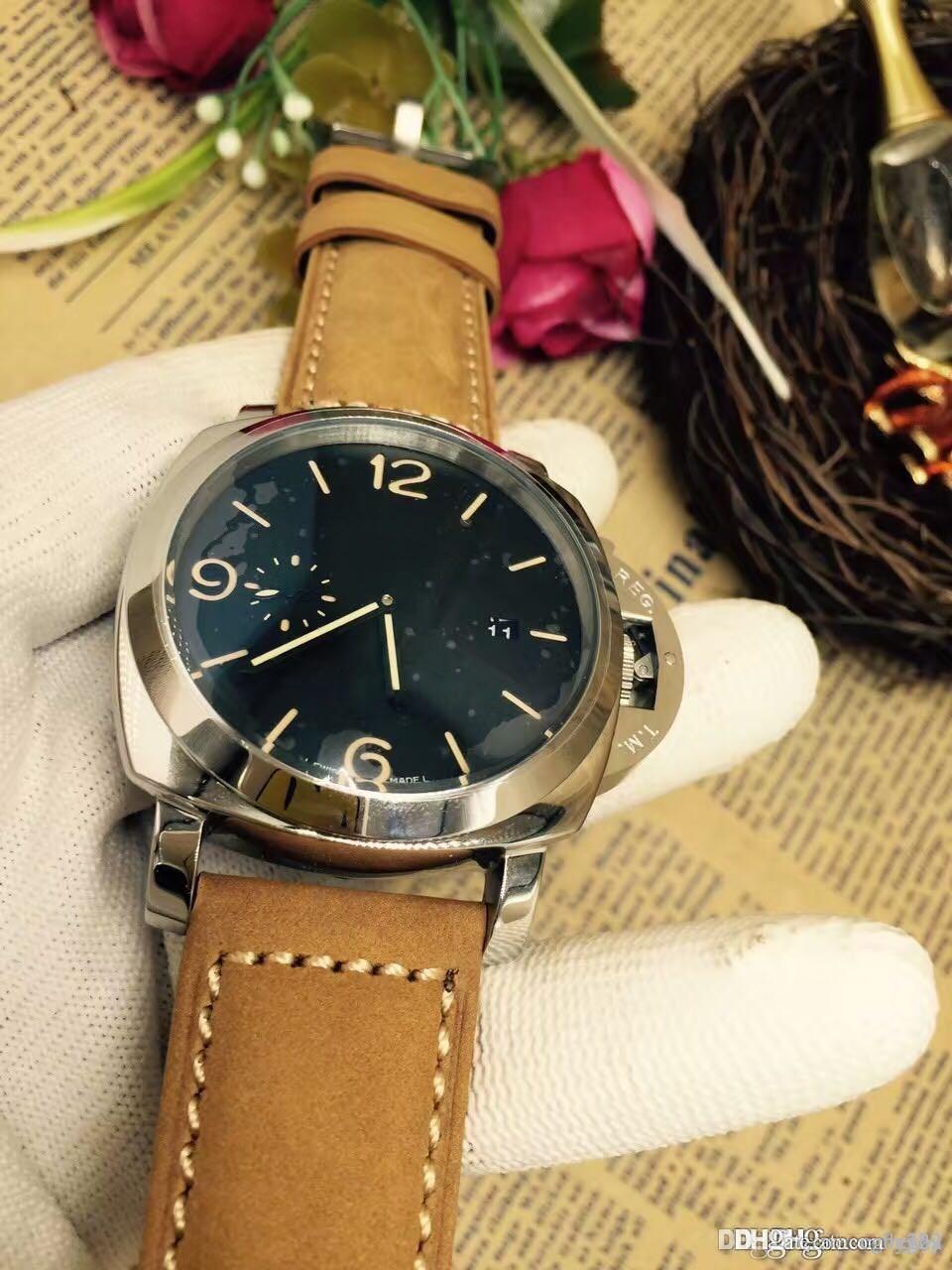 Relojes mecánicos de lujo para hombres de alta gama. Maquinaria automática. Acero inoxidable 316. Esfera súper grande. 3 una calidad. Serie PAM00441
