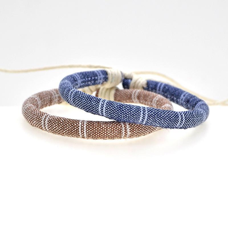 New Fashion Bohemian Handmade Braided Embroidery Vintage Pattern Rope Hand Chain Adjustable Friendship Men Women Bracelet