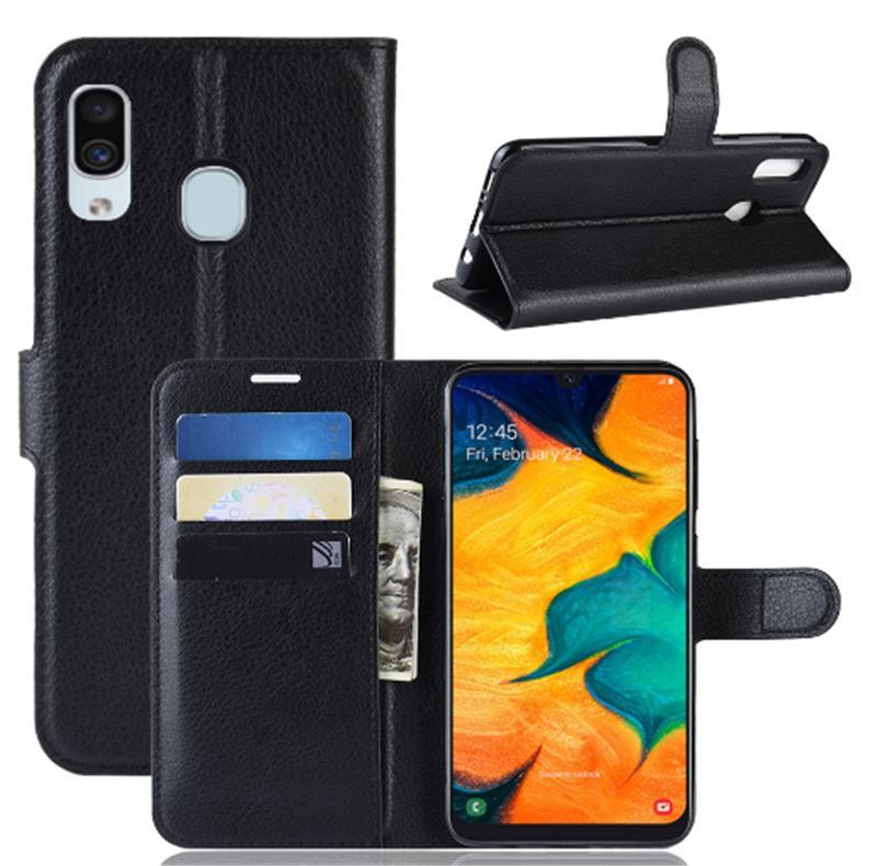 Pour Samsung A10 A30 A40 A50 A70 Wallet Flip Phone Case de luxe en cuir PU couverture de cas par carte de crédit Machines à sous