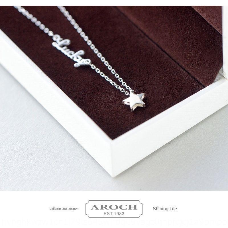 S925 estilo femenino de Corea y las estrellas de moda las letras inglesas LUCKY tobillera estrellas tobillera personalizada linda femenina S0797