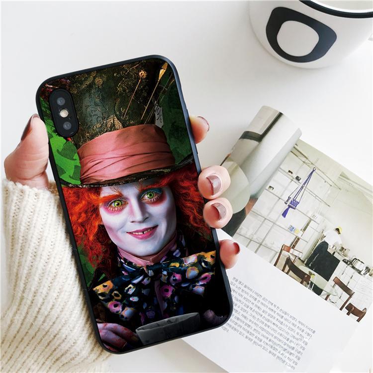 iPhone 11 Wonderland Şapkacı Kapak Fundas Lüks Alice Pro Xs Max Xr Vaka iPhone 8 7 6s Artı 5S SE 5 Kılıf Yumuşak Silikon Kapak.