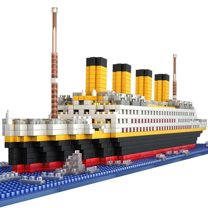 1860pcs Titanic Crucero modelo del buque Diamond Building Blocks DIY Kit de juguetes para niños 50,0 * 50,0 * 50,0 (cm)