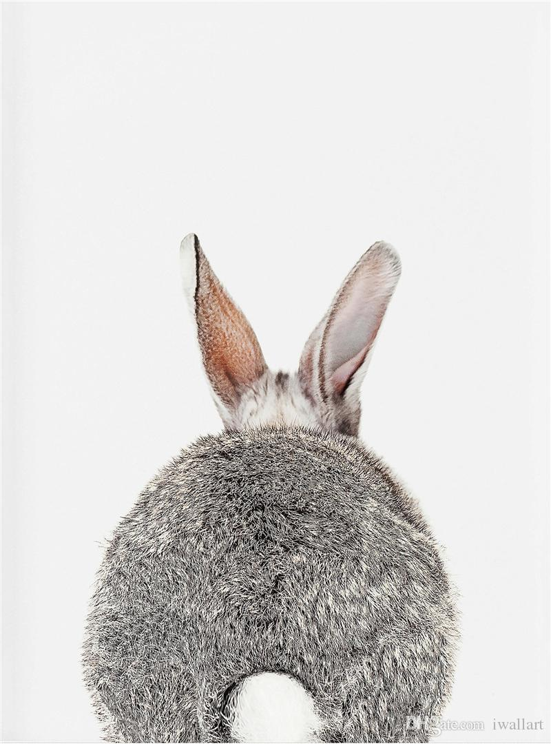 The Rabbit Tail Art Canvas Painting Wall art Picture Poster And Print Decorative Farework Home Decor