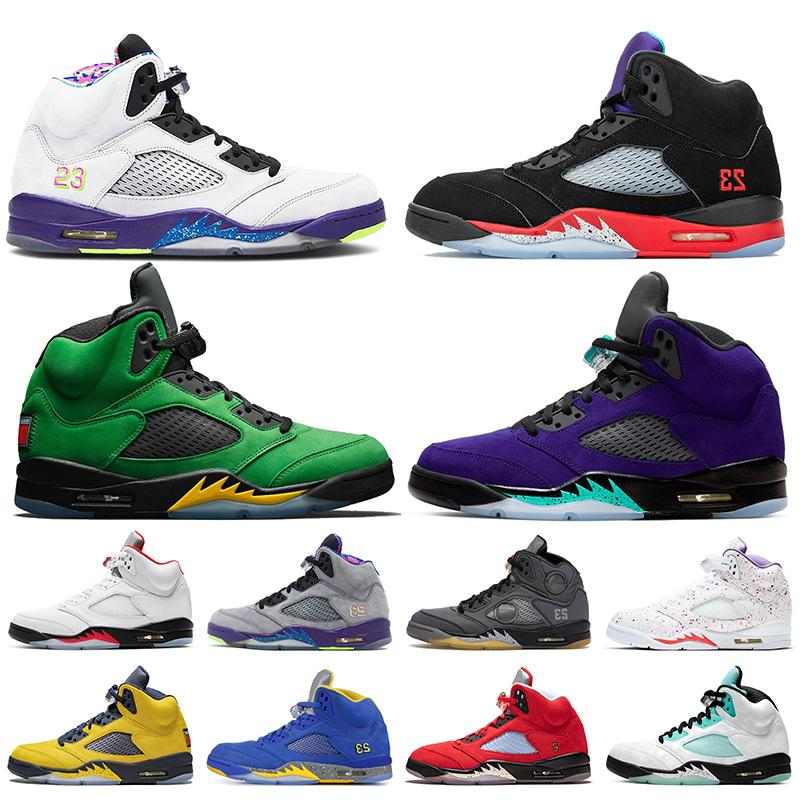 Jumpman 5s Top Quality Alternate Bel 2020 Fire Red 5 Alternate Grape SE Oregon Mens Womens Basketball Shoes Michigan Mens Trainers Sneakers