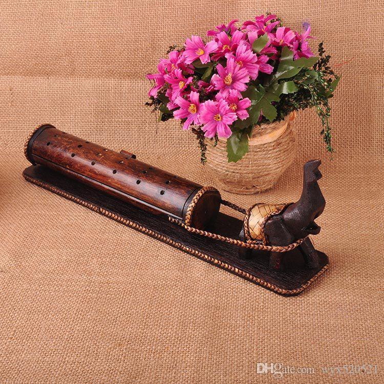 Tailandia artes y oficios madera y bambú elefante palet incienso base incienso caja incensario incienso quemador incienso palos
