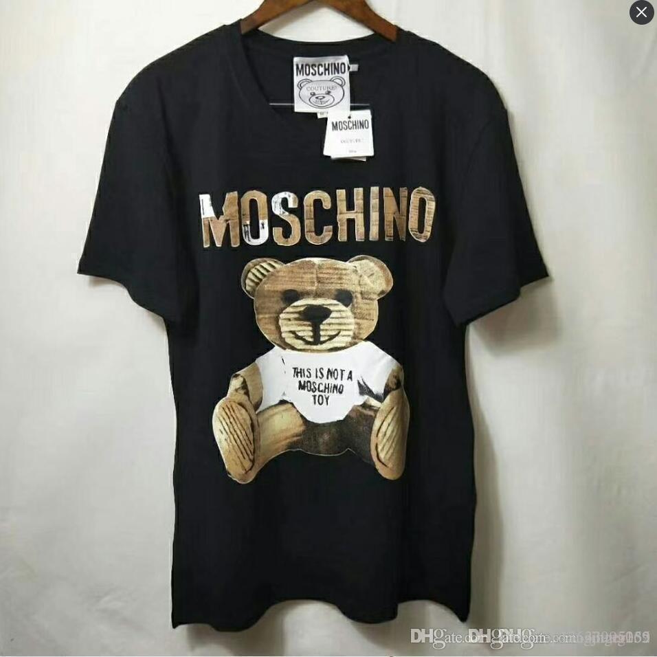 Nouveau Imprimer femmes T-shirt 2019 de mode d'été Nouveau ours lâche Cartoon T-shirt Femme T-shirt Harajuku Tops Pour Lady