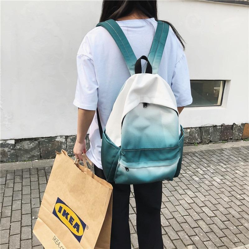 borse studenti universitari zainetto borsa di tela selvaggio casuale zaino di tela zaino delle donne di colore di pendenza delle donne di modo