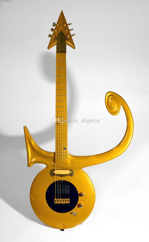 Rare personalizzato oro principe Symbol Chitarra d'oro personalizzato Hardware fatto simbolo astratto oro pioggia chitarra Allguitar factory outlet