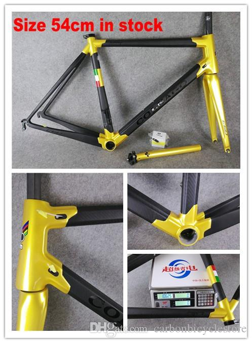 Gold Colnago C60 Road bike Frame full carbon fiber bicycle frame road carbon china bicycle carbon frame bike 48cm 50cm 52cm 54cm