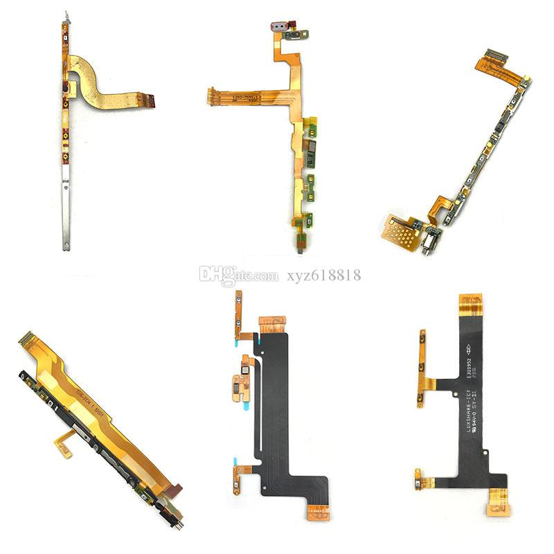 New Power On/Off Key & Volume Side Button Flex Cable For Sony Xperia XA XA1 Plus XA2 Ultra XZ1 Z5 Compact M5 Repair Parts