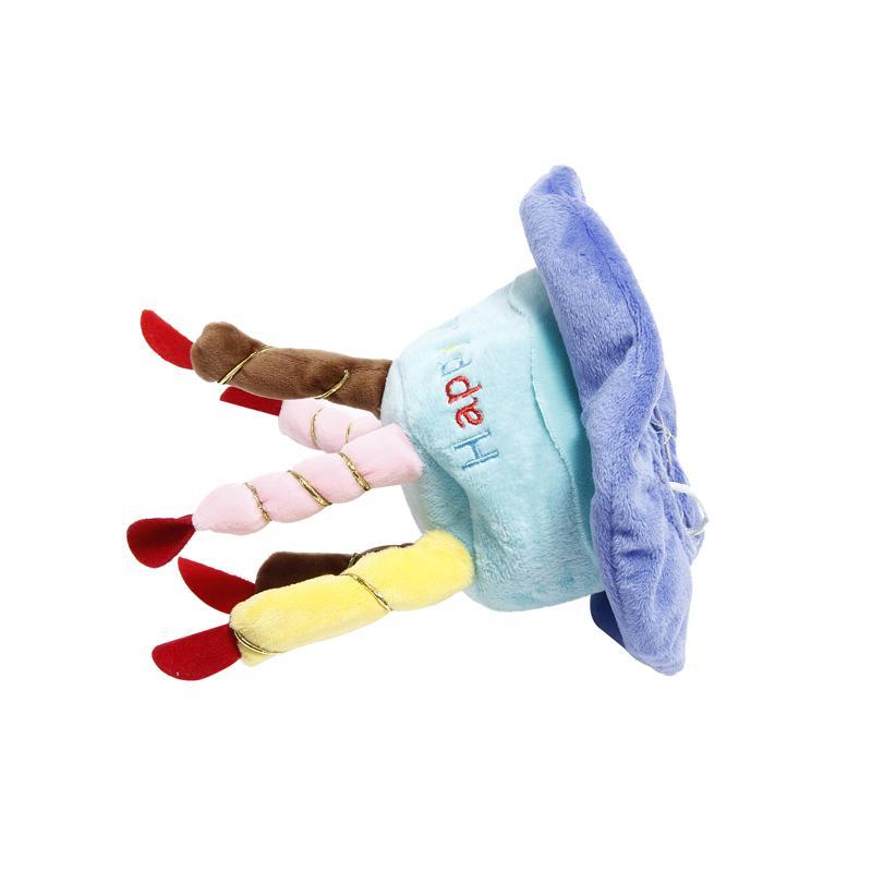 와 1PCS PET 생일 케이크 모자 개 캡 PET 모자 5 색 양초 디자인 파티 사용자 정의 액세서리 린트 핑크 블루