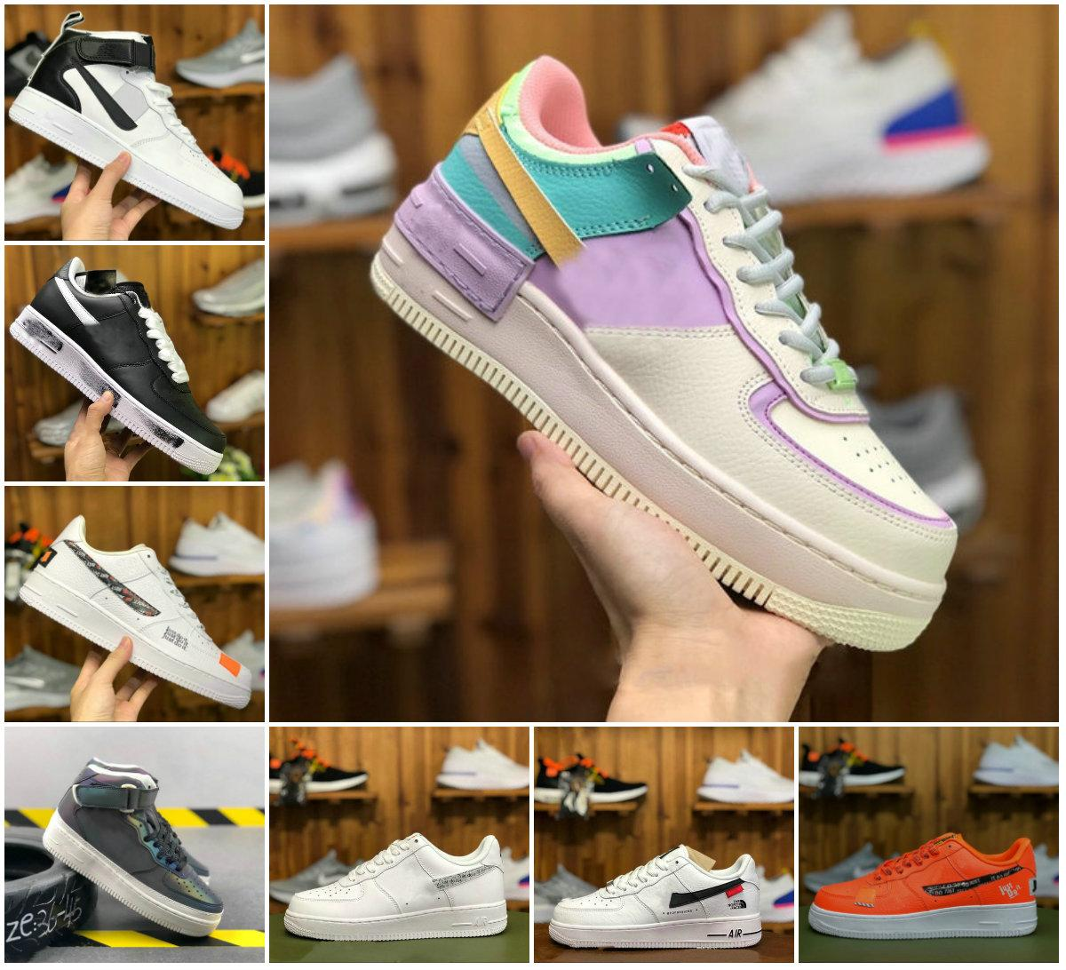 2020 New PEACEMINUSONE x Forces Mid Running Shoes Forced WMNS Shadow Tropical Twist Sneaker Designer All White Low Cut One 1 Dunk Chaussures
