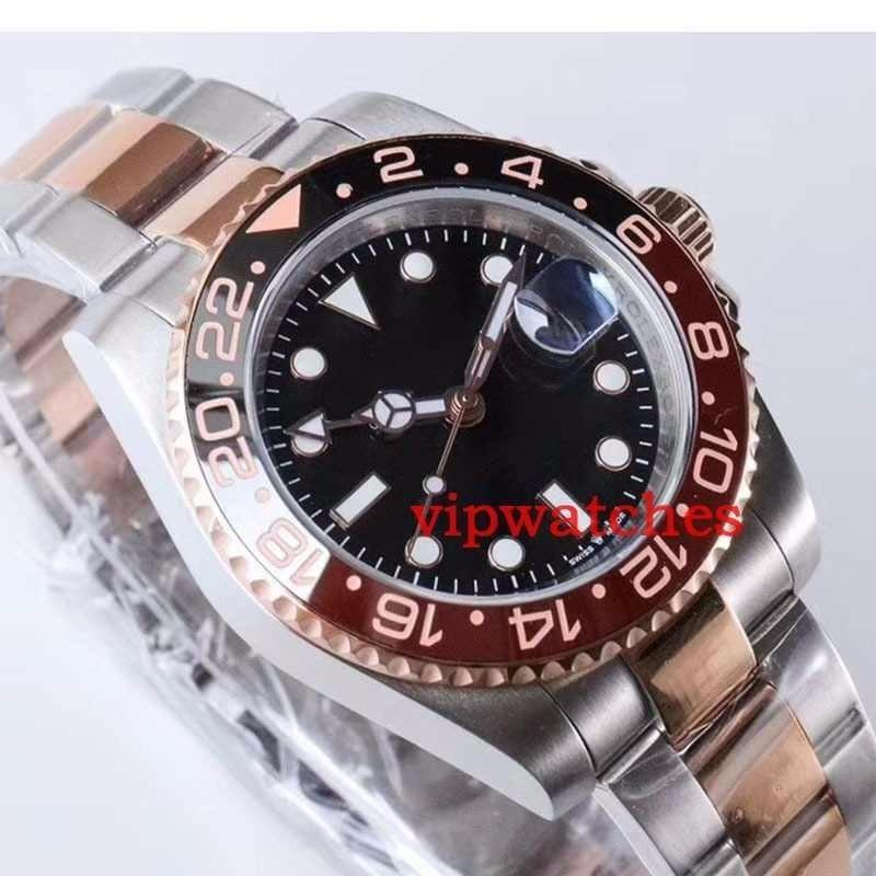 Gent's GMT II Automatic Stainless Steel Dive Luxury Mens Watches Ceramic Circle Master Watch Reloj Wristwatches Mechanical