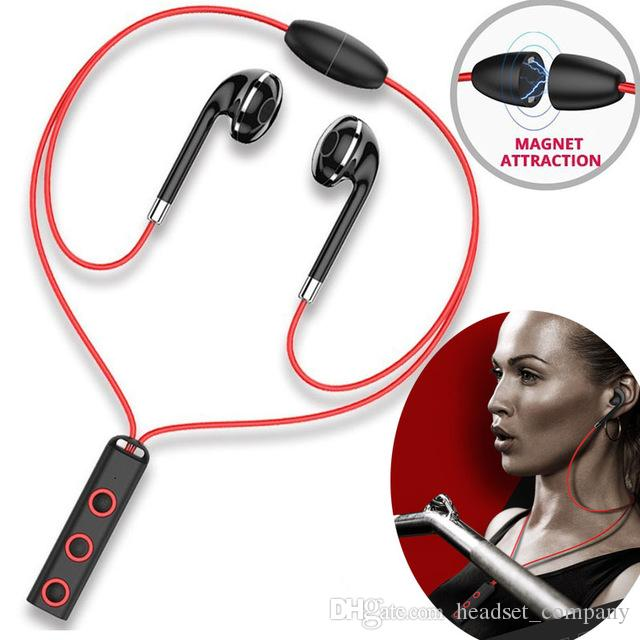 BT313 Magnetic Mini Bluetooth Earphone Wireless Sport Running Headset Headphone With Mic Stereo Earbuds with Box Free DHL