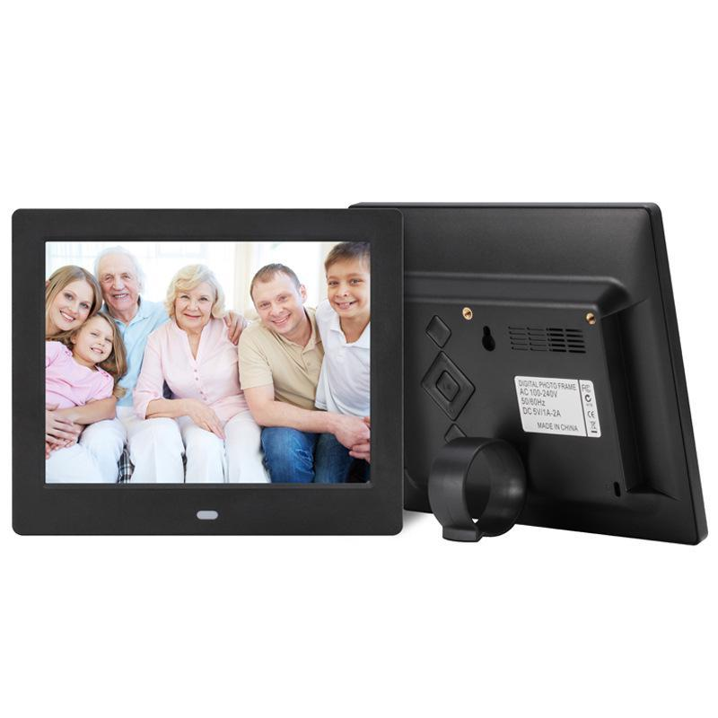 EastVita 8 Inch Inch Digital Photo Frame LED Backlight 1024*768 Screen Electronic Album Picture Music Video