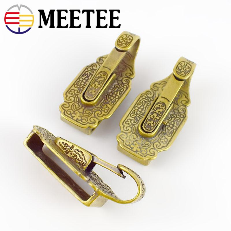 Leathercraft DIY Hardware Solid Brass Ring Keychain  Wallet Chain for key bag