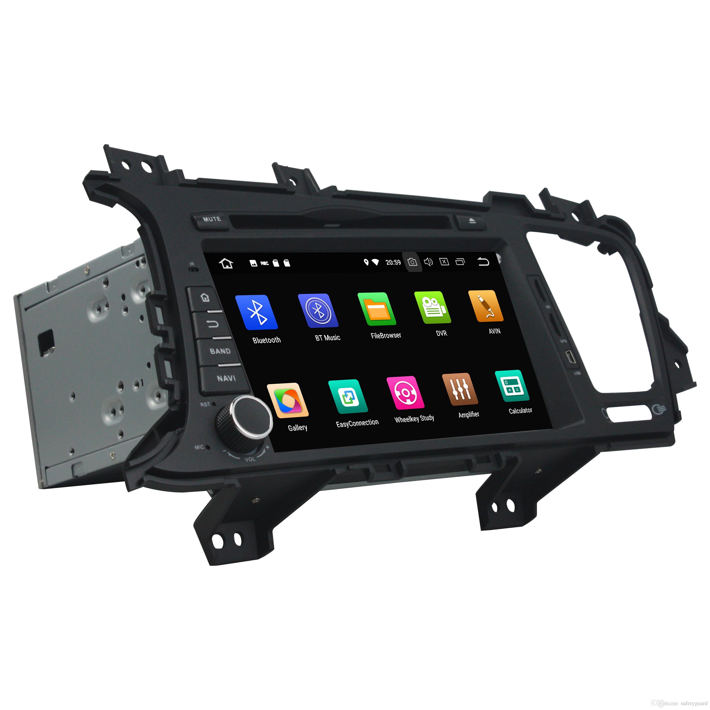 """4 기가 바이트 RAM 64 기가 바이트 ROM 옥타 코어 8 """"안드로이드 8.0 차량용 DVD 플레이어 기아 K5 Optima 2011-2015 라디오 GPS와 블루투스 와이파이의 USB DVR 미러 링크"""