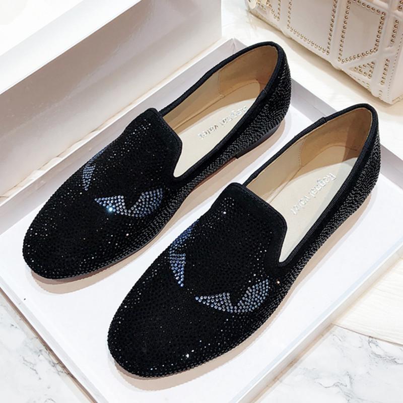Zapatos de los holgazanes escénicas del Rhinestone de Bling para hombre hecho a mano Noble vestido de brillo de cristal hombres del cuero del ante zapatos de boda 10 # 21 / 20D50