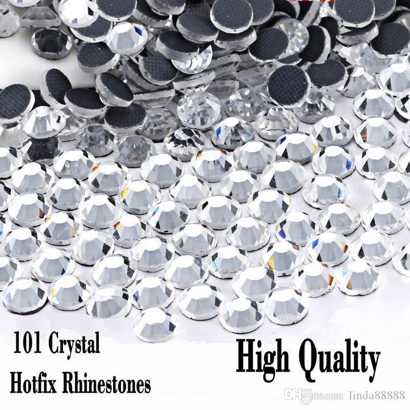 Clear Crystal DMC Hot Fix Rhinestone Flatback Glass Different Sizes Hotfix Rhinestones Iron On For party night Dress