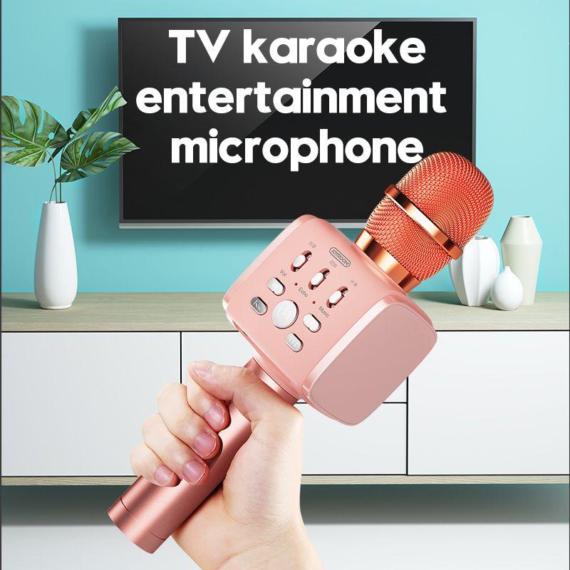 JOYROOM Bluetooth Karaoke Microphone JR-MC3 Portable Handheld Wireless Karaoke Mic Speaker Machine for iPhone Samsung PC All Smartphone