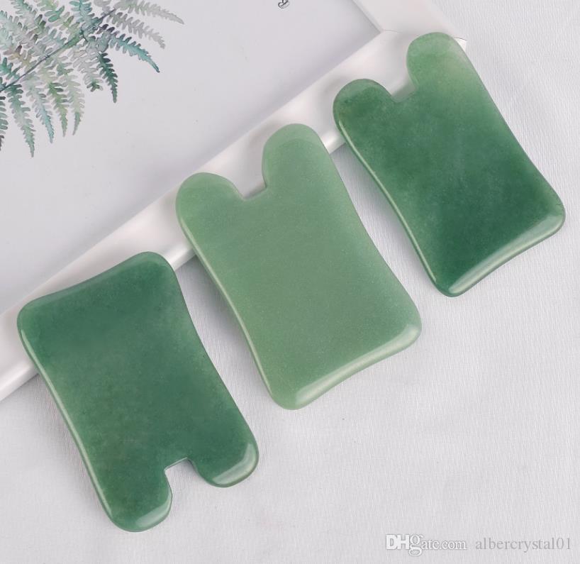 Face and Body Massager Natural Jade Gua Sha Board Guasha Massage Tools for Relaxing Facial Skin