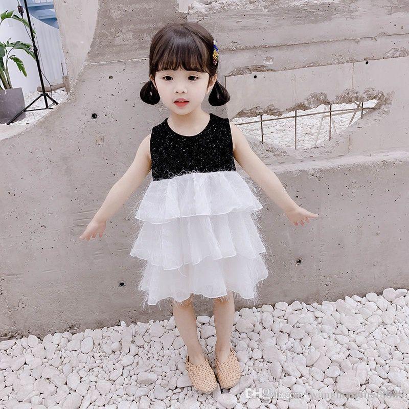 1-4 T Princesa Menina Tutu Vestido Kid Baby Girl Casual Festa Pageant Verão Criança Infantil Menina Bolo Formal Vestido