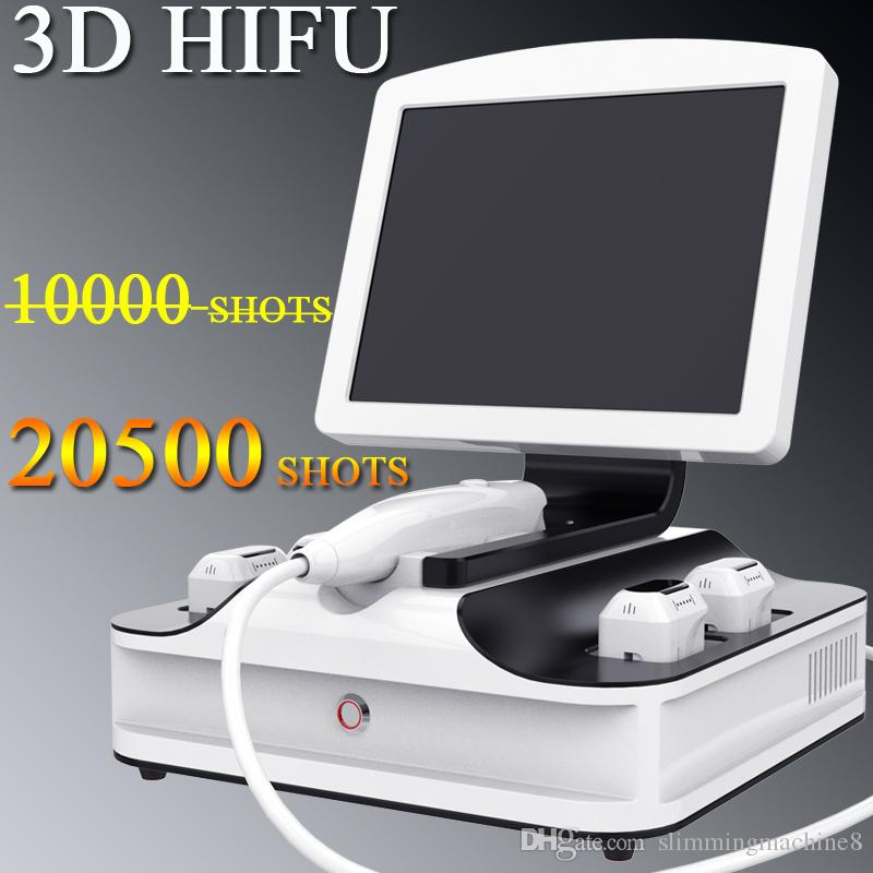 Fast shipping 3D HIFU Wrinkle Removal Face lifting machine 20500 shots 3d hifu machine use manual approved
