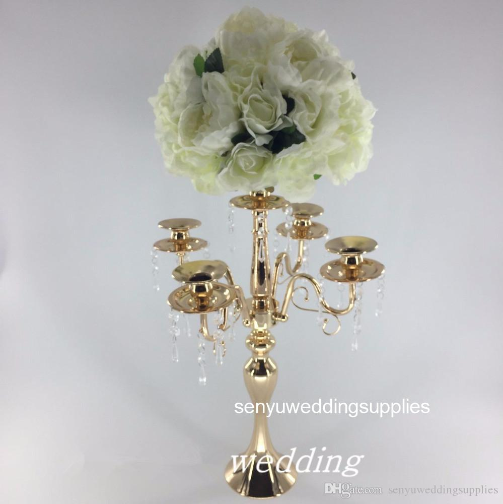 Wholesale Tall Silver Metal Flower Stand for Wedding Walkway Aisle Decoration senyu0220