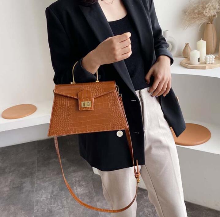 Designer Sénior das mulheres da moda bolsas Jacaré Bolsas de Ombro do metal Mão Anel Crossbody Bag Mulheres New Style saco de alta qualidade