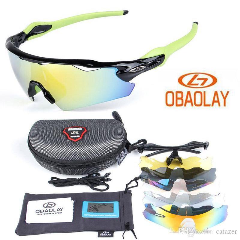 Seçim için Bisiklet Gözlük Yol Yarışı Moda Güneş 5 Mercek Polarize Bisiklet Gözlükler UV400 EV Bisiklet Sunglass 4 Çerçeve Renkleri