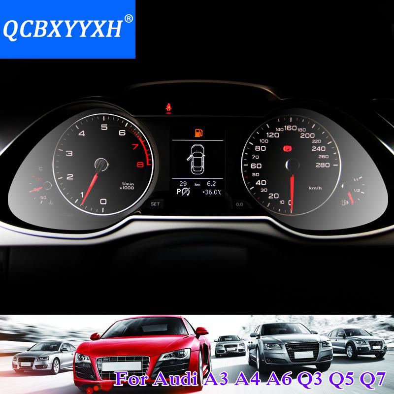 QCBXYYXH Araba Styling Araba Dashboard Boya Koruyucu PET Film Için Audi A1 A3 A4 A6 Q3 Q5 Q7 Işık verici 4 H Çizilmez