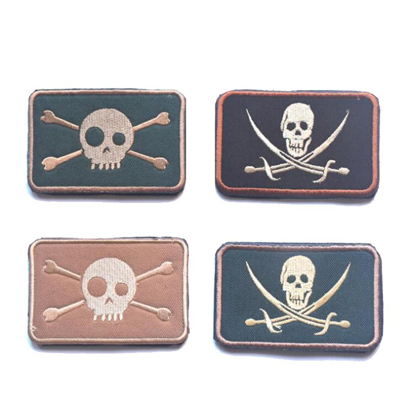 Size Eye Skull 3D Embroidered Armband Military Tactics Special Warrior Gas Badge Camouflage Clothing Backpack Hat Patch