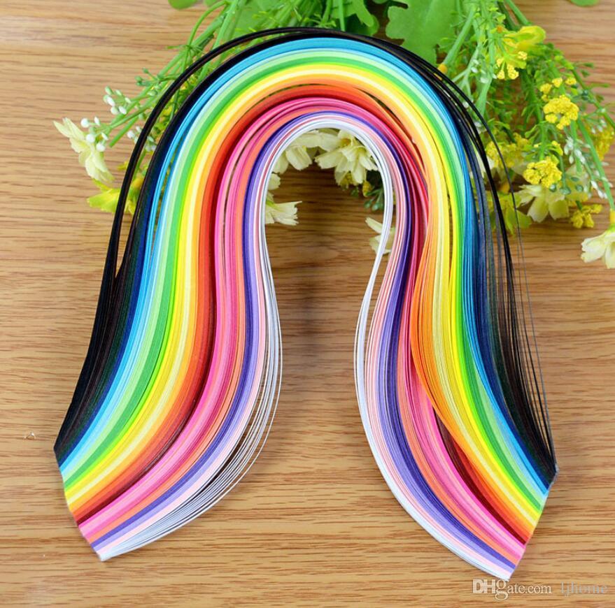 3 Taschen Streifen Quilling Papier DIY Handwerk Handgemachte Kind Mischfarbe Origami Scrapbooking sammelalbum diy papierhandwerk