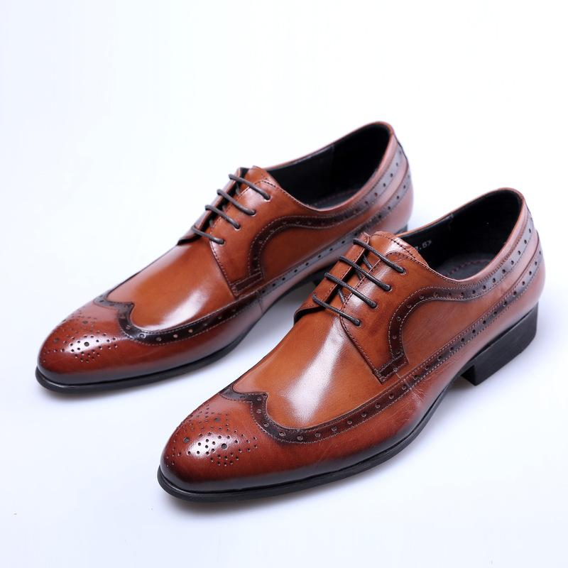 Scarpe in pelle da uomo vestito da affari Scarpe Large Size Indossare pelle bovina scarpe da sposa in pelle da uomo