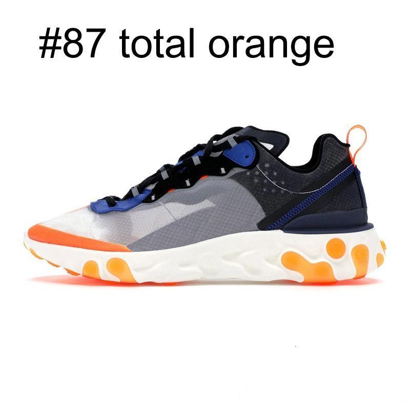 87 55 Eleman Erkekler Kadınlar Antrasit Işık Kemik Üçlü Siyah Beyaz Kırmızı Orbit Tasarımcılar Erkek Eğitmenler Spor Sneaker için Ayakkabı Koşu Tepki