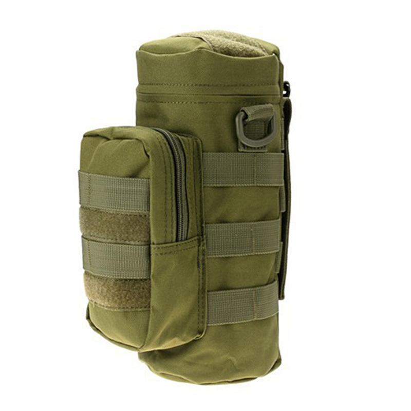 Outdoor Water Bottle Pouch Bottle Bag Molle Water Zipper Pouch Outdoor For Hiking Traveling