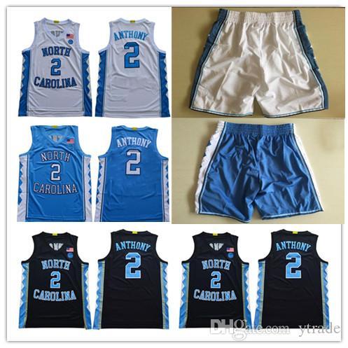 Classic NCAA North Carolina Tar Taroudrans # 2 Cole Anthony Michael College Vince Carter 2019 Unc Blue Blanc Blanc Blanc Basketball Jerseys Shorts