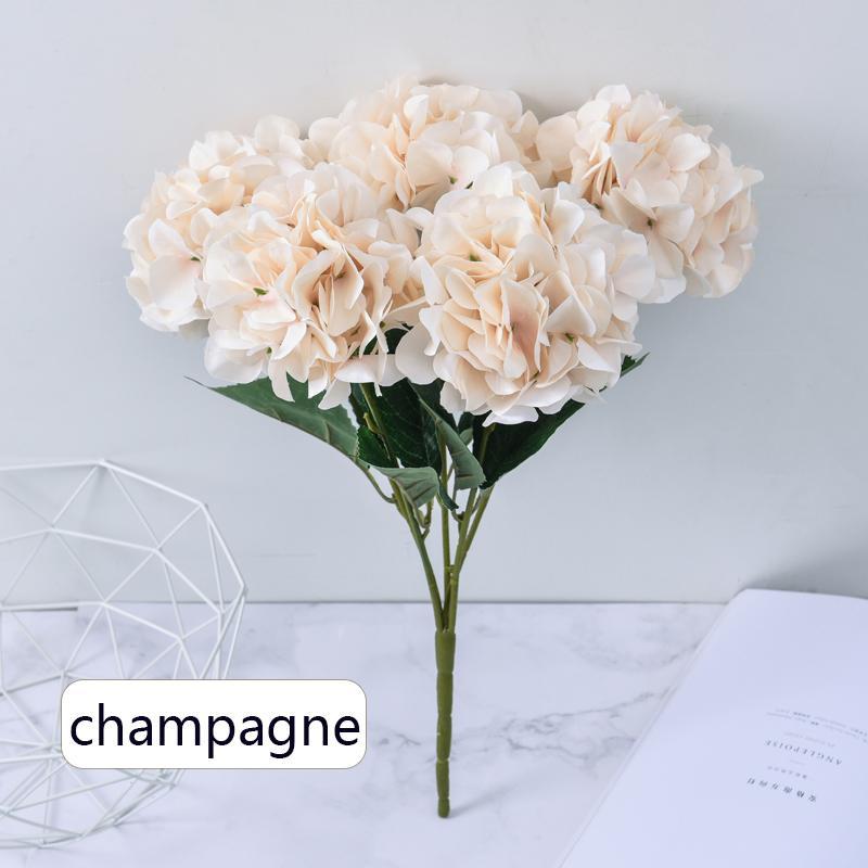 45 سنتيمتر كوبية الاصطناعي الزهور 5 رؤساء الحرير كوبية باقة الأوروبي الرئيسية الديكور زفاف الديكور زهرة جدار حديقة السياج
