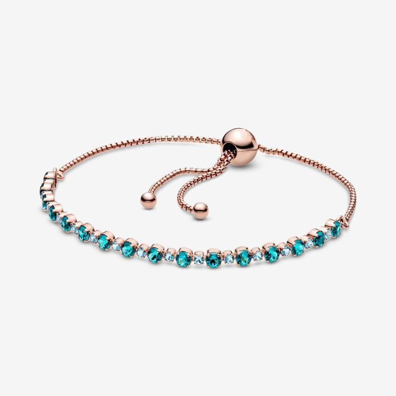 JrSr new 100% 925 sterling silver Turquoise Sparkling Slider Tennis Bracelets 2020 woman fashion DIY jewelry gifts free shipping