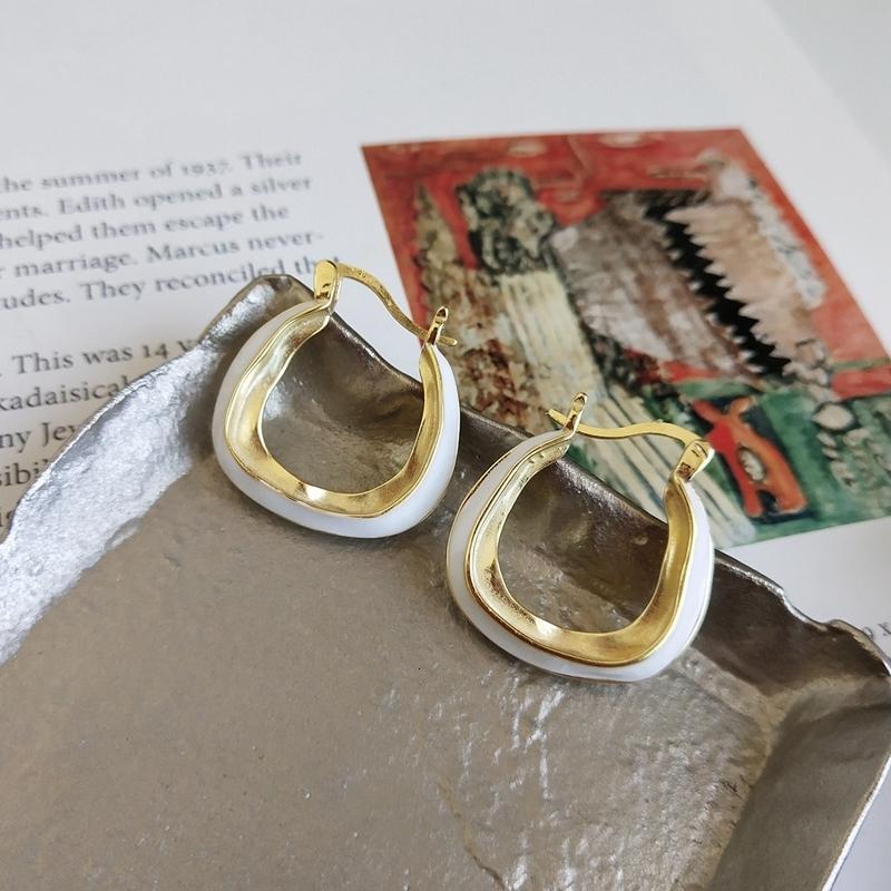 LouLeur 925 sterling silver Moroccan style white gold big stud earrings creative elegant earrings for women festival jewelry CJ191128