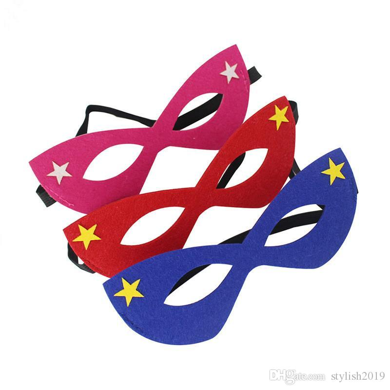 Cadılar bayramı Cosplay Maskeleri 103 Tasarımlar 2 Katmanlı Karikatür Maske Hissettim Kostüm Partisi Masquerade Göz Maskesi Çocuk Çocuk Noel Doğum Günü Hediyesi WCW455