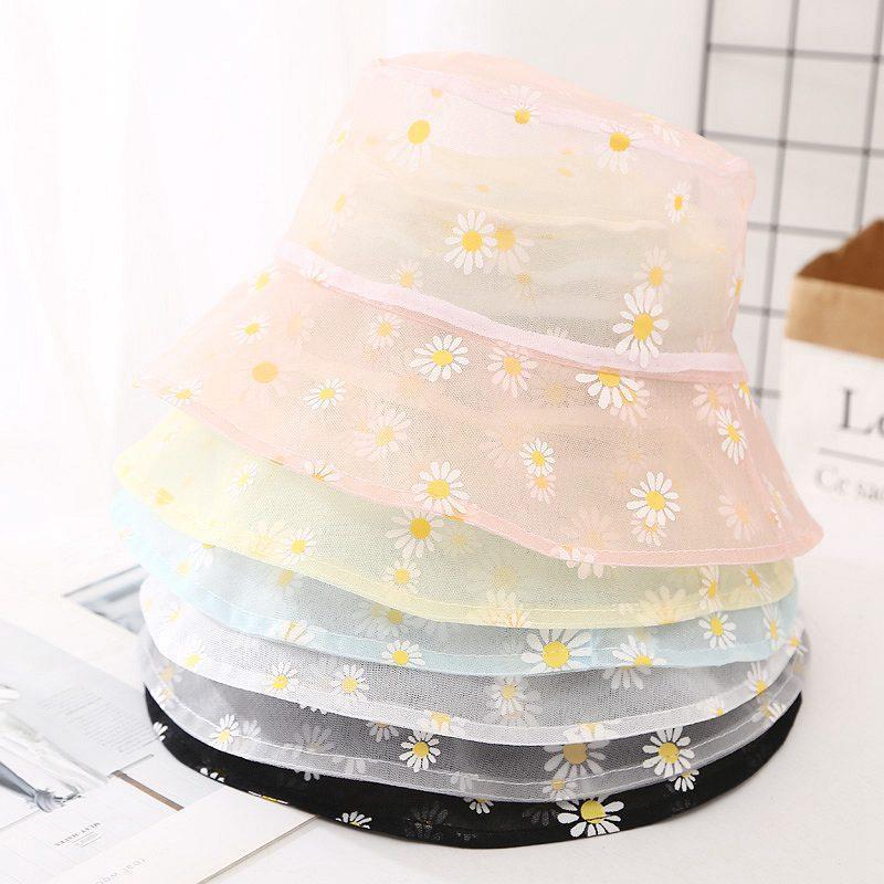 2020 nuevo diseñador de malla súper delgada sombrero del cubo del verano amarillo rosa unisex transpirable sombrero de pesca sol al aire libre de los hombres cuenca del sombrero de la protección encabezamiento