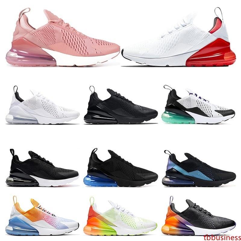 forman los zapatos de correr para los hombres de triple negro blanco Negro arco iris del gradiente PETARDO láser fucsia para mujer del tamaño de la zapatilla de deporte 36-45