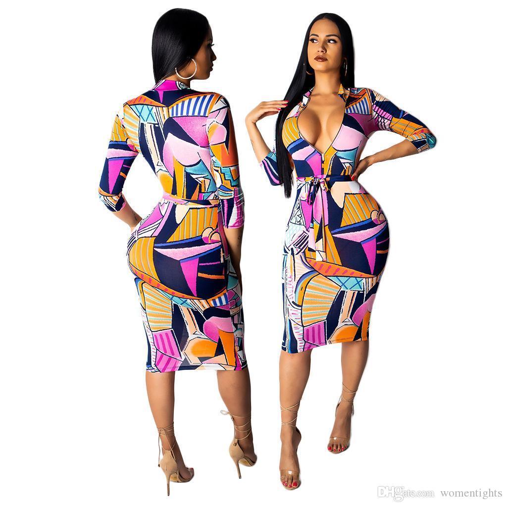 Femmes lambrissé Sexy Robes Mode Plaid Imprimer Femmes Zipper Robes Bow Jupettes Robes Casual Vêtements pour femmes