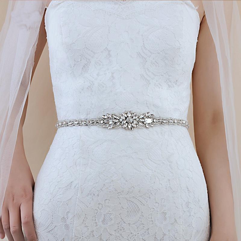 Горячая продажа Свадебные пояса с жемчугом Бриллианты Свадебные аксессуары для женщин Свадебное платье Sash пояса невесты многоцветный Новое прибытие S385